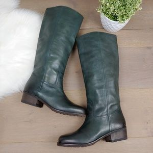 Lucky Brand Tall Green Leather Riding Boots ALEID